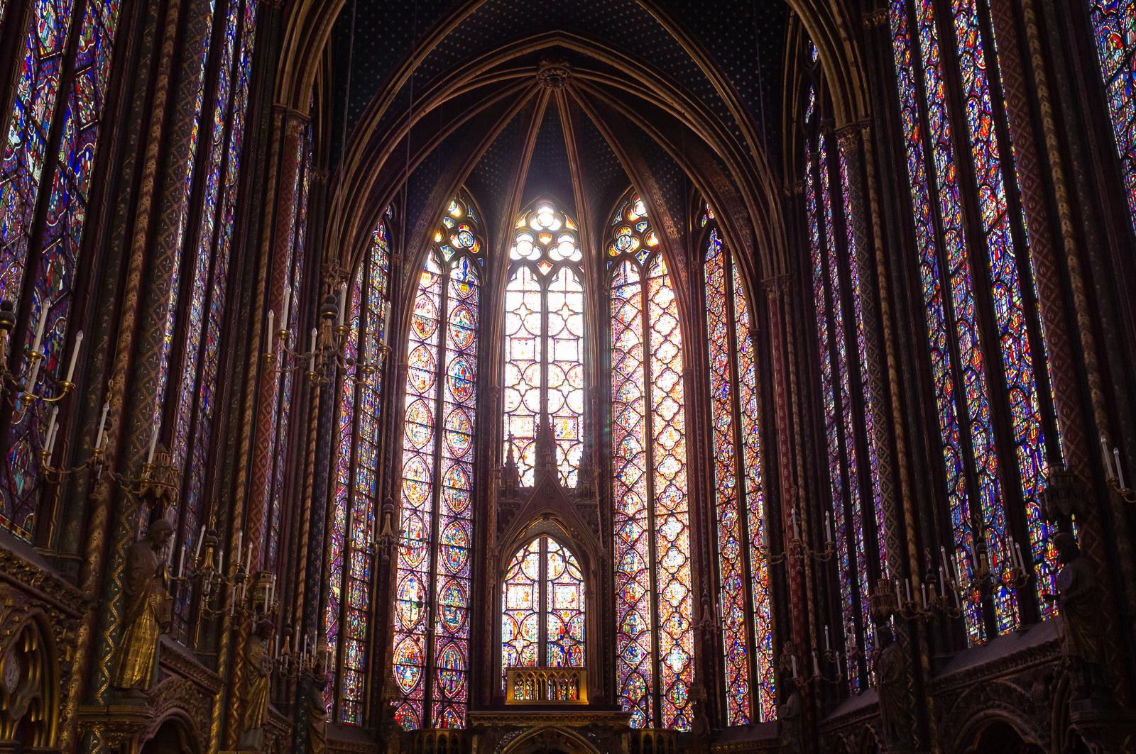 Sainte-Chapelle, Palais de la Cité - Photo by Asgeir Pedersen, Spots France